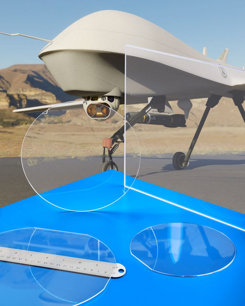 Sapphire Optics for Drones